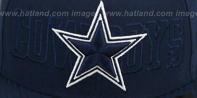 Cowboys 'TONAL WORD' Navy Fitted Hat by New Era