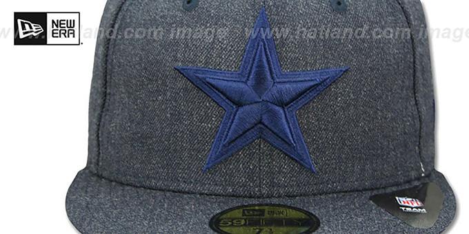 dd8b8add0 Dallas Cowboys TOTAL TONE Heather Navy Fitted Hat by New Era