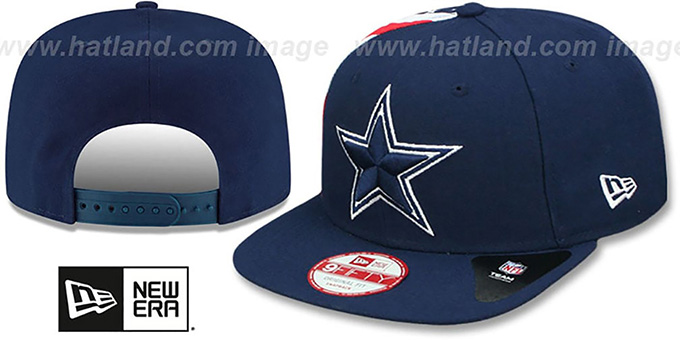 Cowboys 'USA FLAG-SIDE SNAPBACK' Navy Hat by New Era