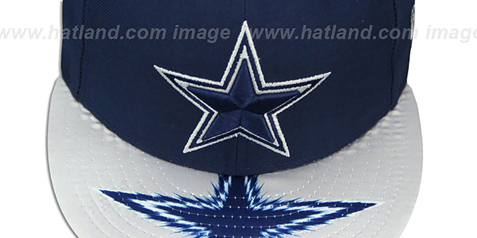 Cowboys 'VISOR GLEAM SNAPBACK' Navy Hat by New Era