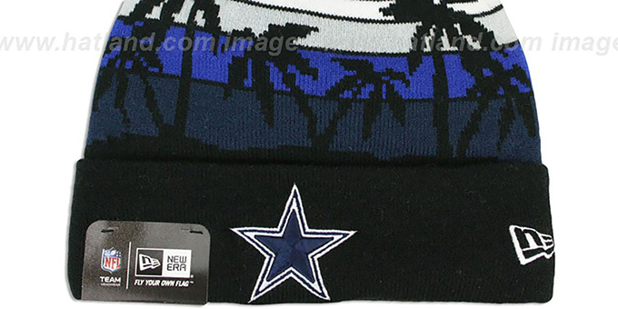 Cowboys 'WINTER TROPICS' Black Knit Beanie Hat by New Era