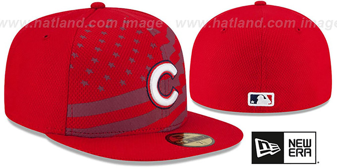 Cubs '2015 JULY 4TH STARS N STRIPES' Hat by New Era