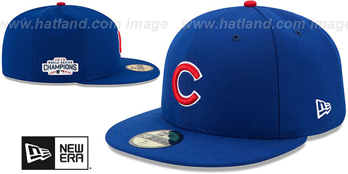 ... Cubs  2016 WORLD SERIES CHAMPIONS  Fitted Hat by New Era ... 2b9738e6c1