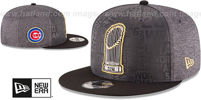 ... Cubs  2016 WORLD SERIES TROPHY SNAPBACK  Grey-Black Hat by New Era ... f01bcd92580