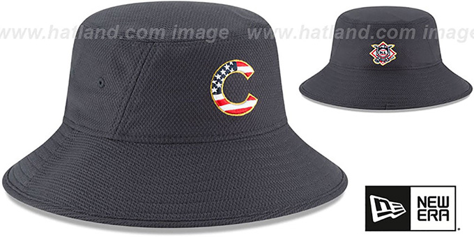 Cubs '2018 JULY 4TH STARS N STRIPES BUCKET' Navy Hat by New Era