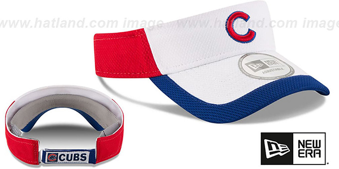 Cubs 'COLOR-BLOCK VISOR' by New Era