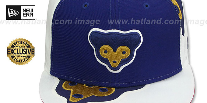 Cubs 'COOPERSTOWN ORLANTIC-3' Royal-White Fitted Hat by New Era