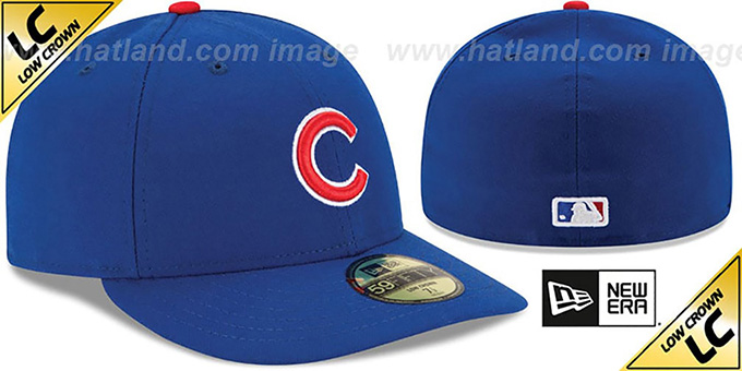 ... Cubs  LOW-CROWN  GAME Fitted Hat by New Era ... c2179358b6a