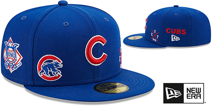 Cubs 'MULTI-AROUND' Royal Fitted Hat by New Era