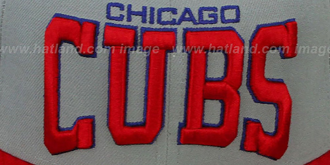 Cubs 'PRO-ARCH' Grey-Red Fitted Hat by New Era
