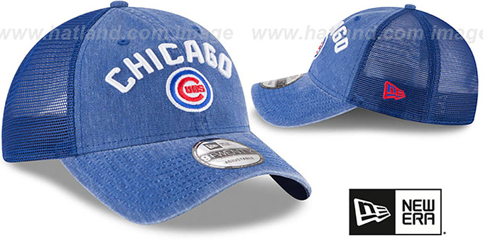 Cubs 'RUGGED-TEAM TRUCKER SNAPBACK' Royal Hat by New Era