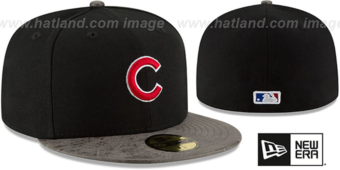 Cubs 'RUSTIC-VIZE' Black-Grey Fitted Hat by New Era