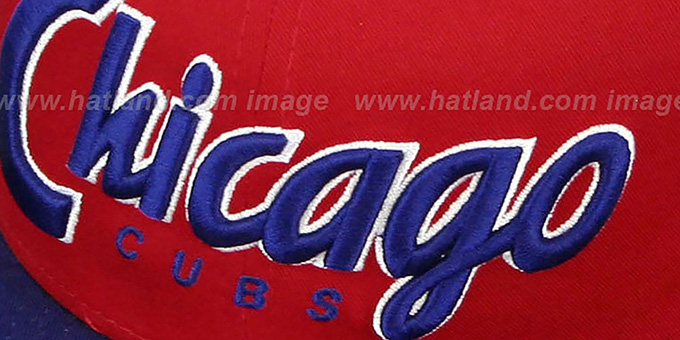 Cubs 'SNAP-IT-BACK SNAPBACK' Red-Royal Hat by New Era