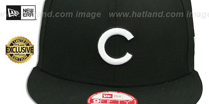 Cubs 'TEAM-BASIC SNAPBACK' Black-White Hat by New Era