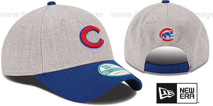 Cubs 'THE-LEAGUE HEATHER STRAPBACK' Grey-Royal Hat by New Era