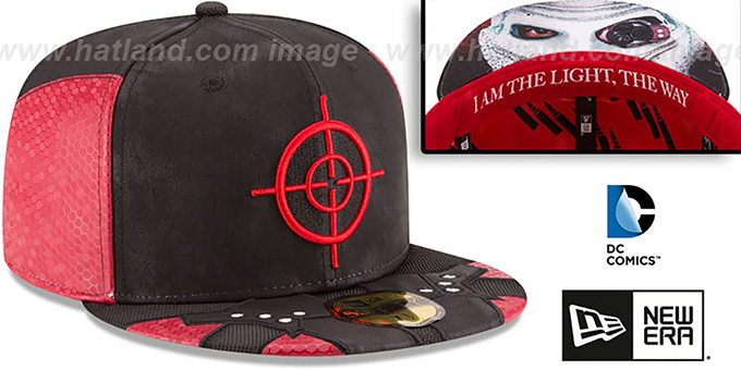 Deadshot 'CHARACTER FACE' Black-Red Fitted Hat by New Era