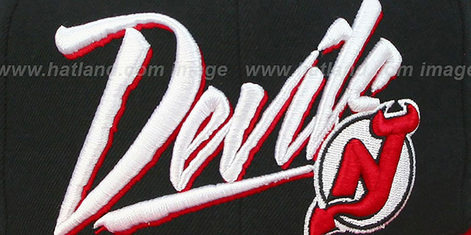 Devils '2T VICE SNAPBACK' Black-Red Adjustable Hat by Mitchell & Ness