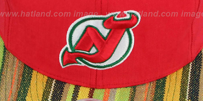 Devils 'NATIVE-STRIPE SNAPBACK' Red Hat by Mitchell & Ness