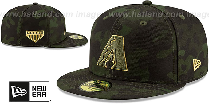 Diamondbacks 2019 ARMED FORCES 'STARS N STRIPES' Hat by New Era