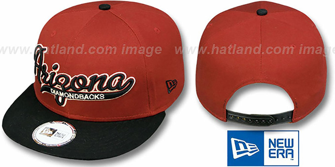 Diamondbacks '2T SCRIPTER SNAPBACK' Brick-Black Hat by New Era