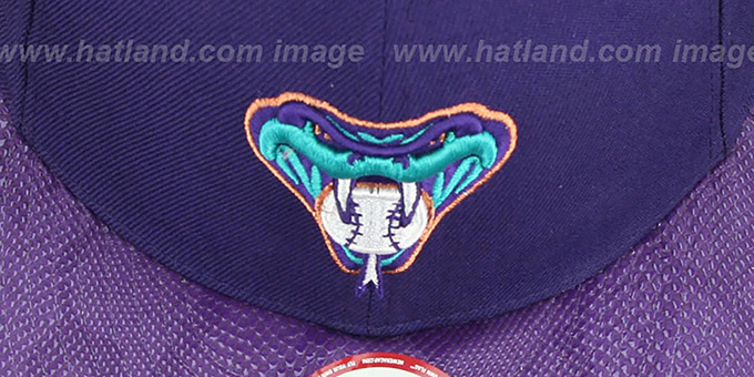 Diamondbacks 'SNAKE-THRU STRAPBACK' Purple Adjustable Hat by New Era