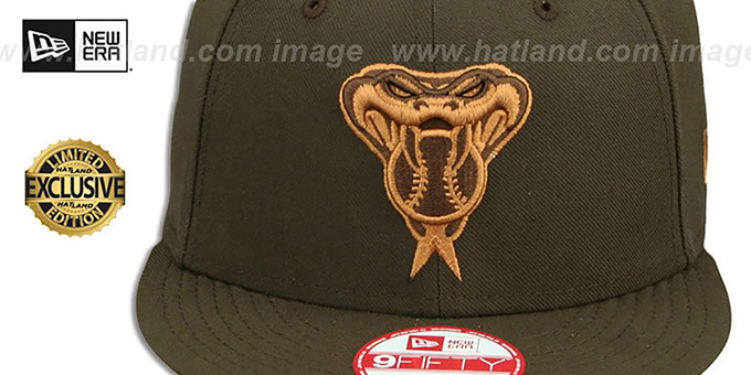 Diamondbacks 'TEAM-BASIC SNAPBACK' Brown-Wheat Hat by New Era