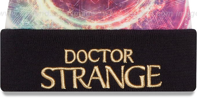 Doctor Strange 'POWER' All-Over Knit Beanie Hat by New Era