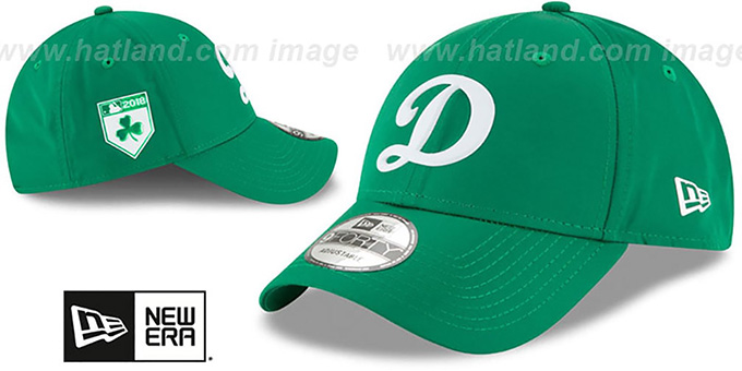 Dodgers '2018 ST PATRICKS DAY 940 STRAPBACK' Hat by New Era