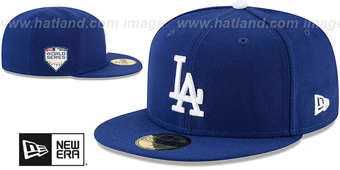 Dodgers '2018 WORLD SERIES' GAME Fitted Hat by New Era