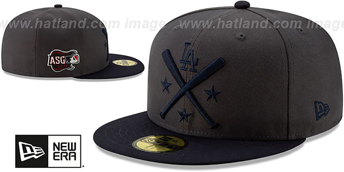 the latest d9645 5d57d ... Dodgers  2019 MLB ALL-STAR WORKOUT  Grey-Navy Fitted Hat by New ...