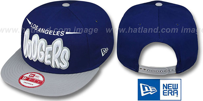 Dodgers '2T DOPETASTIC SNAPBACK' Royal-Grey Hat by New Era