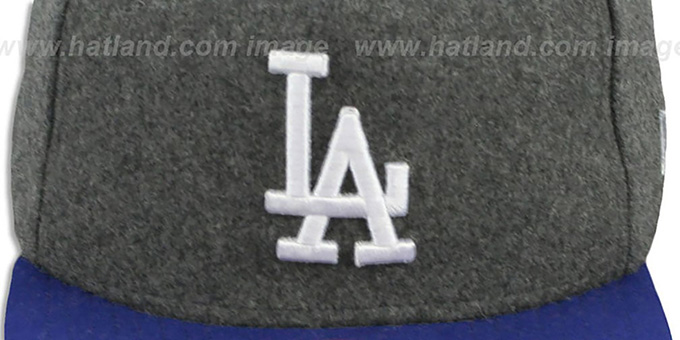 Dodgers '2T MELTON A-FRAME STRAPBACK' Hat by New Era