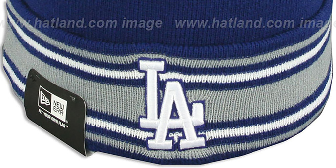 Dodgers 'AC-ONFIELD' Royal Knit Beanie Hat by New Era