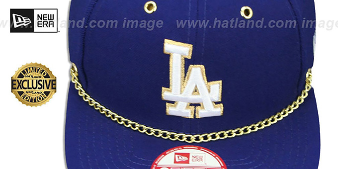 Dodgers 'CHAIN SNAPBACK' Royal Hat by New Era
