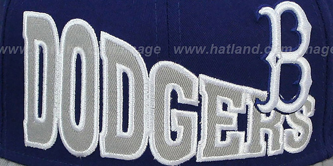 Dodgers COOP 'STOKED SNAPBACK' Royal-Grey Hat by New Era