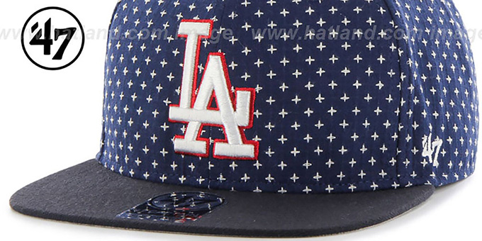 Dodgers 'CROSSBREED SNAPBACK' Navy Hat by Twins 47 Brand