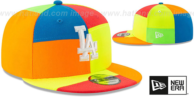Dodgers 'DAYGLOW PATCHWORK SNAPBACK' Hat by New Era