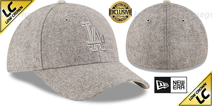 Dodgers 'EK MELTON FABRIC MIX' Grey Hat by New Era