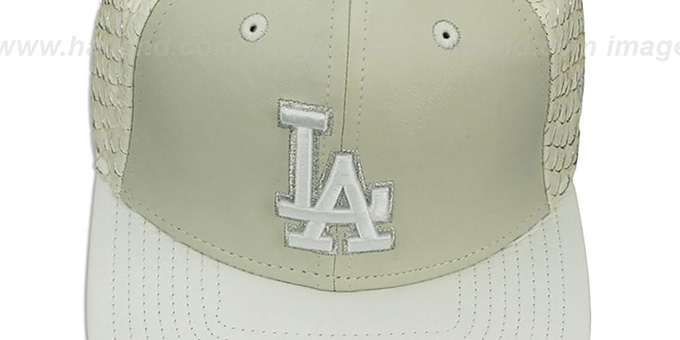 Dodgers 'FISHSCALE LEATHER STRAPBACK' Hat by New Era