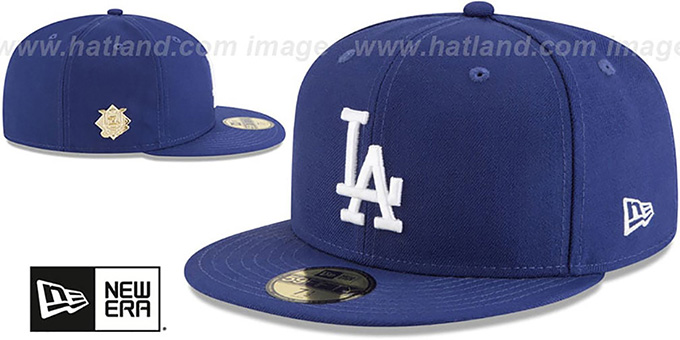 Dodgers 'GILDED TURN' Royal Fitted Hat by New Era