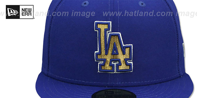 Dodgers 'GOLD METALLIC STOPPER' Royal Fitted Hat by New Era
