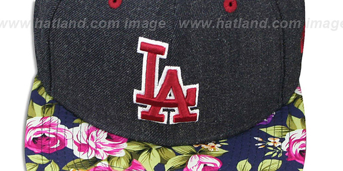 Dodgers 'HEATHER BLOOM SNAPBACK' Navy Hat by New Era
