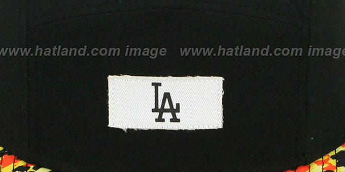 Dodgers 'LEOPARD CAMPER STRAPBACK' Black Hat by New Era