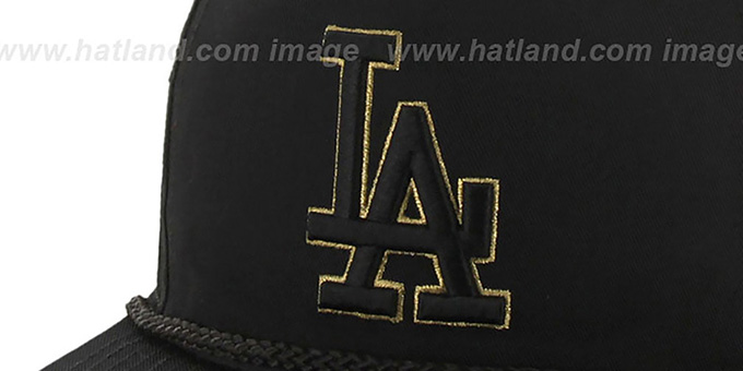 Dodgers 'MINE-SHAFT STRAPBACK' Black Hat by Twins 47 Brand