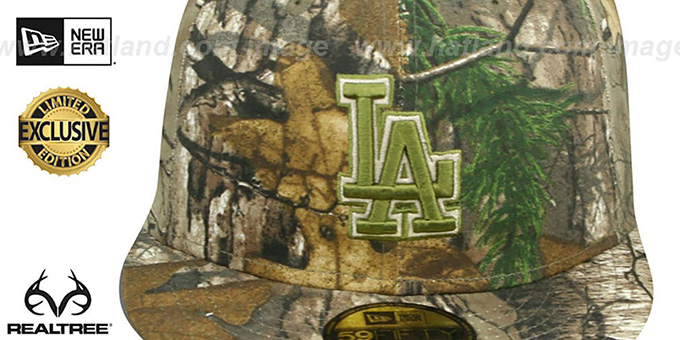 Dodgers 'MLB TEAM-BASIC' Realtree Camo Fitted Hat by New Era