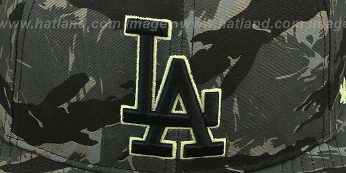 Dodgers 'NIGHT-VISION SNAPBACK' Adjustable Hat by Twins 47 Brand