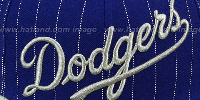 Dodgers 'PIN-SCRIPT' Royal-Grey Fitted Hat by New Era