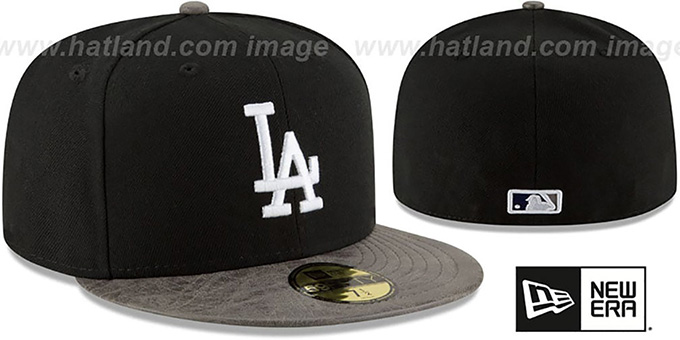 Dodgers 'RUSTIC-VIZE' Black-Grey Fitted Hat by New Era