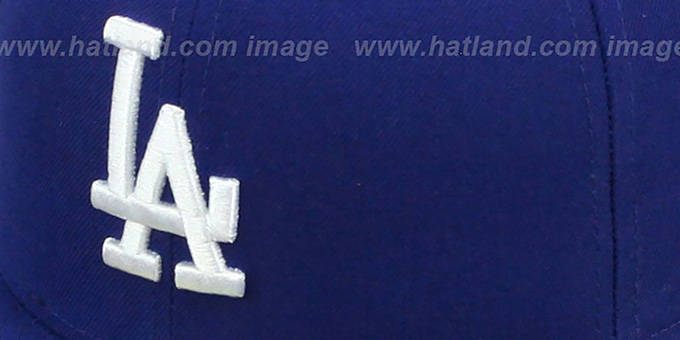 Dodgers 'SIDE TEAM-PATCH' Royal Fitted Hat by New Era