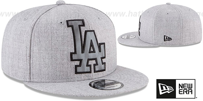 Dodgers 'SILKED-XL SNAPBACK' Heather Light Grey Hat by New Era